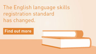 The English language skills registration standard has changed.
