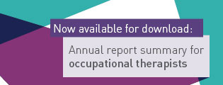 Now available for download: Annual report summary for occupational therapists.